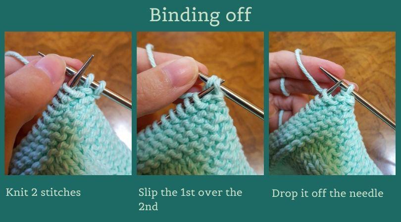 three steps to binding off your knitting project