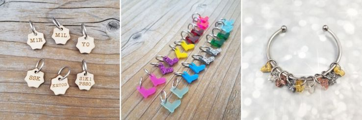 Stitch markers from Katrinkles