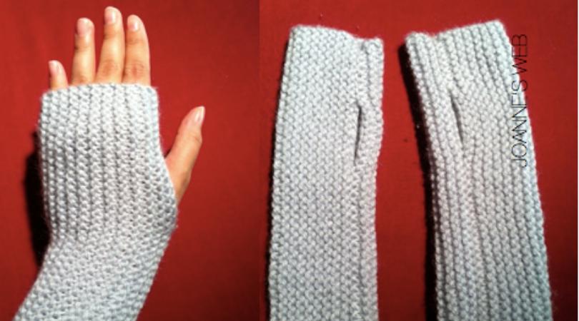 Fingerless gloves from Joanne's web