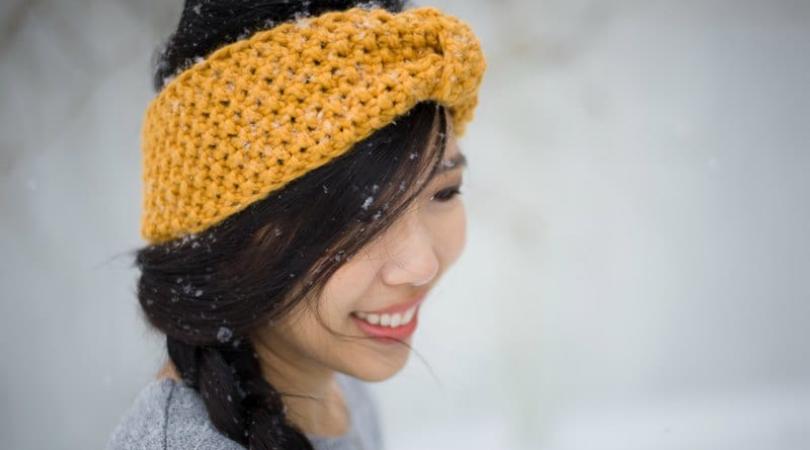 Seed stitch headband from allaboutami