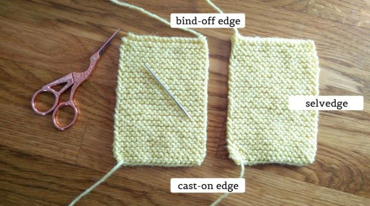 The things you need to learn how to seam garter stitch fabric with the mattress stitch